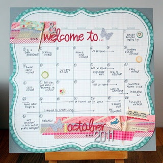 neat! make a scrapbook page of your calendar... this beats saving old