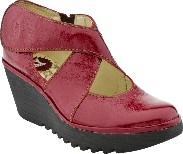 Fly London Shoes - Yogo Boots (Red Patent)
