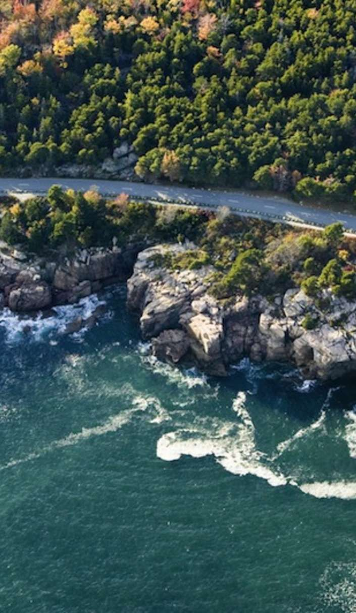 On a map, the Acadia Byway around Acadia National Park looks like a nonsensical maze of roads, but John D. Rockfeller and friends (who donated...