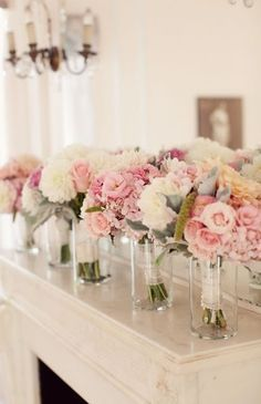 bridal party head table bouquet holders - Google Search                                                                                                                                                      More