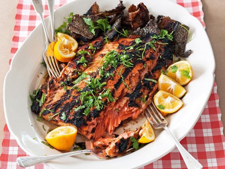 Tamarind salmon recipe - By FOOD TO LOVE, The salmon can be cooked in a ridged grill pan or on a barbecue hotplate. Salmon skin turns gorgeously crispy when cooked on the grill. That's a real invitation to dig in!