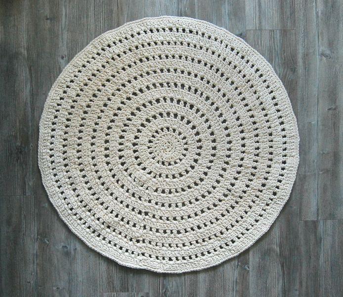 Dywanik ecru - 100% sznurek bawełniany w Bacillo na DaWanda.com