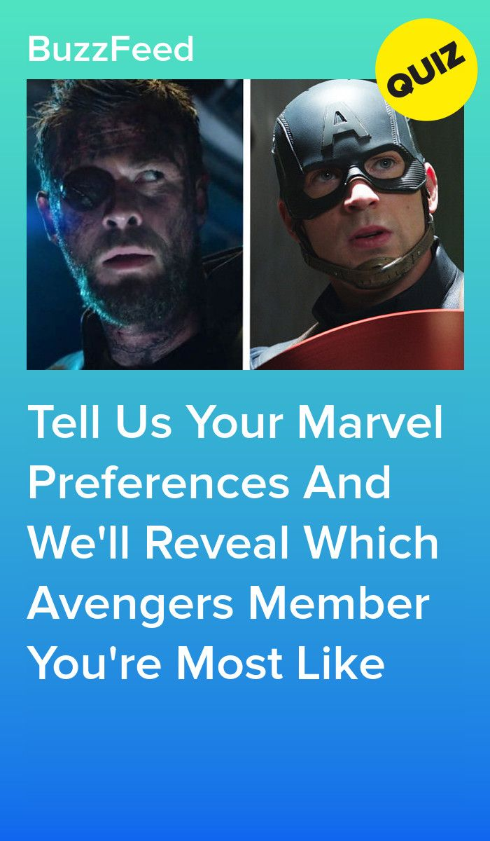 Complete This Quiz To Find Out Which Member Of The Avengers