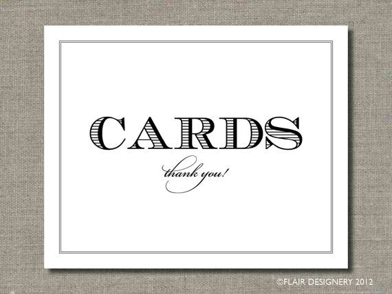 Wedding Cards Printable Poster Bar Sign Table Or Guest Book