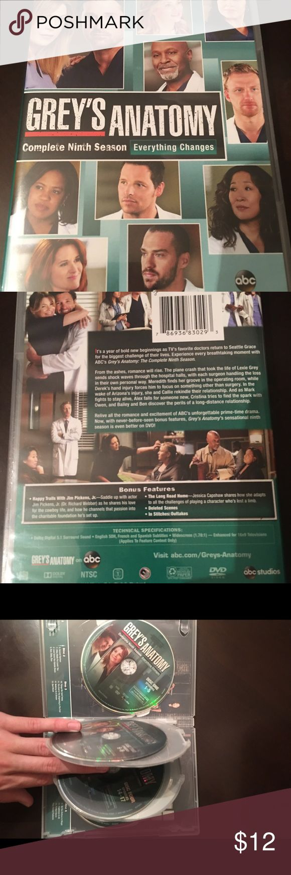 Grey's Anatomy Season 9 24 episodes of Grey's Anatomy included in this collection of 6 disc Season 9. Never watched so in perfect condition. Grey's Anatomy Other