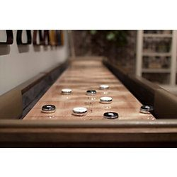 Travis Shuffleboard Table for sale. Order custom shuffleboard tables like this one from Billiard Factory today!