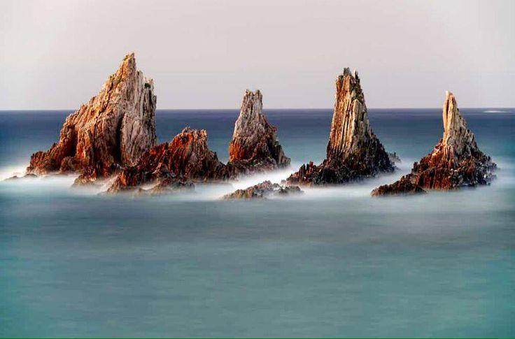RT @MagdaMeghy: Emerging.. Taken at Playa de la Gueirua. Cudillero Spain    Photo by Eduardo Armas https://t.co/0JvZCw2SdH