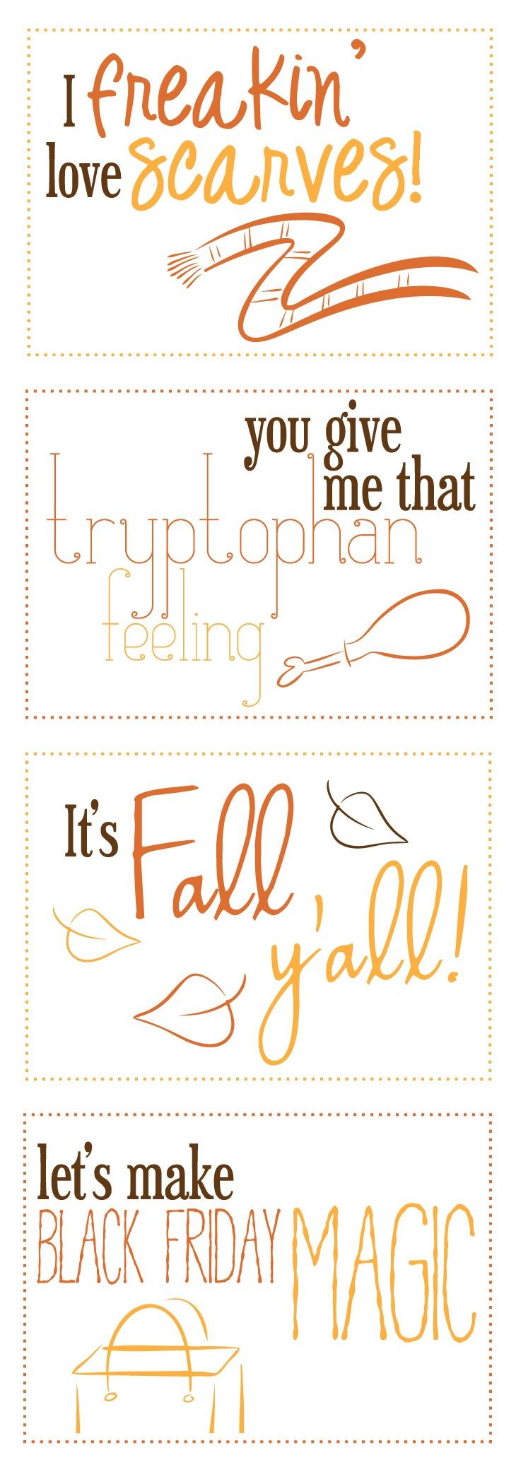 Funny Fall Printables via Let's Eat Grandpa!