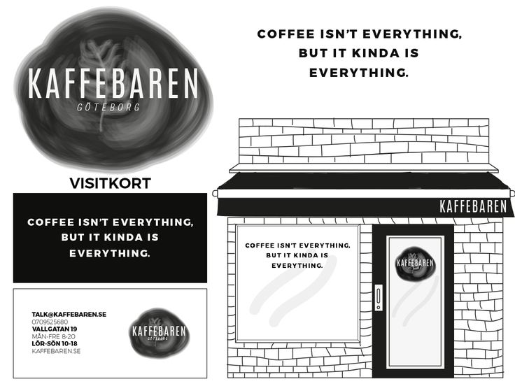 CASE: Graphic profile for a coffeeshop.