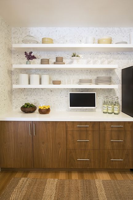 Like This White Countertop Amp The Darker Cabinets