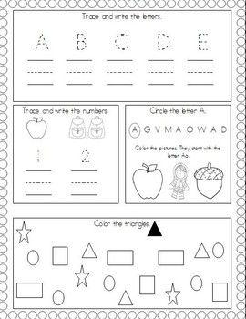 Worksheets Kindergarten Morning Worksheets 1000 ideas about kindergarten morning work on pinterest august work