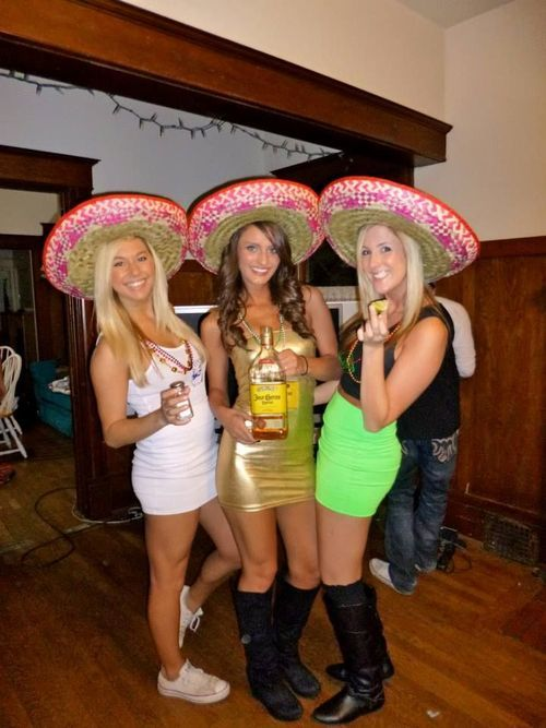 Salt tequila and lime. Fun trio halloween costume