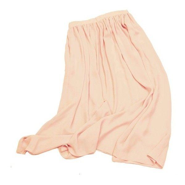 skirt maxi pink chiffon ❤ liked on Polyvore