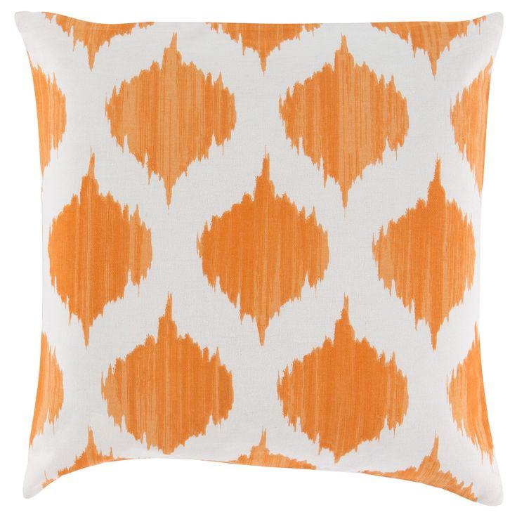 Surya Ikat Burnt Orange Decorative Pillow