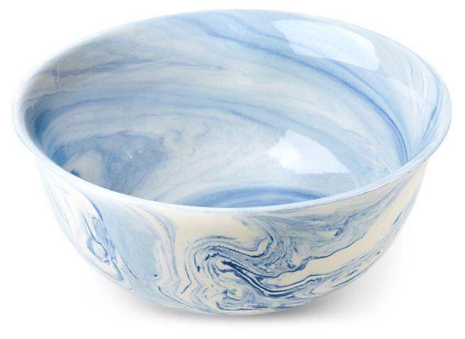 14 Ainsley Flared Decorative Bowl Blue White Decorative Bowls Floral Bowls Art Glass Bowl