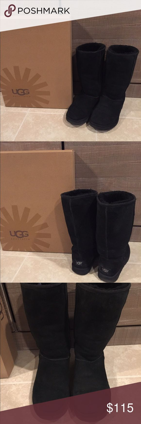 Classic Tall UGG Boots-Black Classic Tall UGG Boots-Black these are in excellent Used condition. No stains! UGG Shoes Winter & Rain Boots