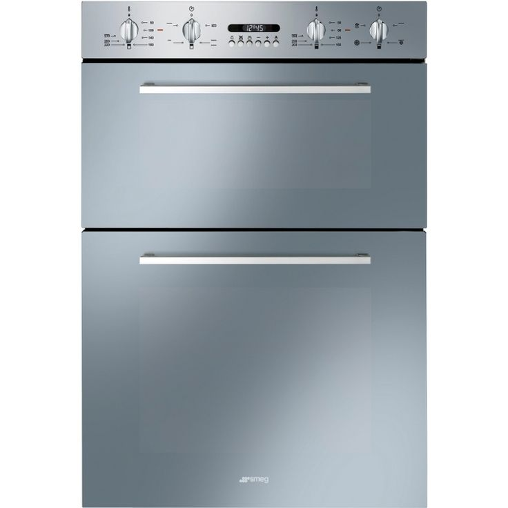Built In Double Fan Oven Part - 20: Buy Smeg Cucina DOSF44X Double Built In Electric Oven (DOSF44X) -  Finger-friendly