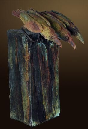 """Raven's View B"" by Renzo Bronze Sculpture Edition Size: 55 SN Size: 15""h x 10""w x 9""d"