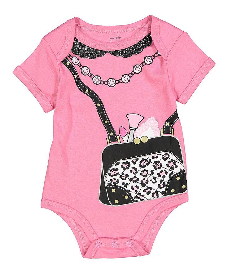 Pink Leopard Purse Bodysuit
