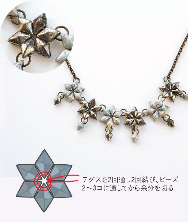 ダイヤモンデュオのフラワーネックレス
