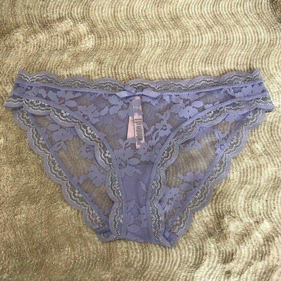 "2 Victoria/'s Secret /""Dream Angels/"" Lace Trim Cheekini Panties Large NWT"