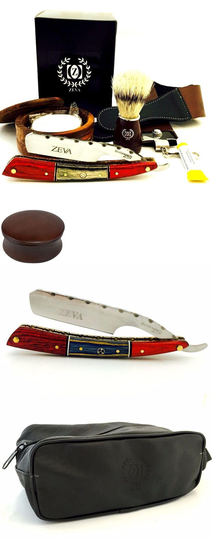 Straight Razors: Zeva Solingen Elegant Wooden Cut Throat Straight Razor Shaving Set, Dovo Paste -> BUY IT NOW ONLY: $99.99 on eBay!
