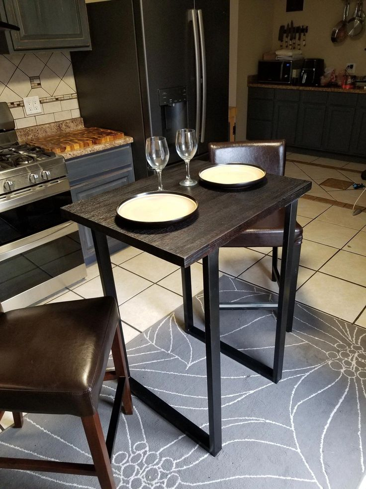 Gorgeous Charred Oak high top dining table. Perfect for ...