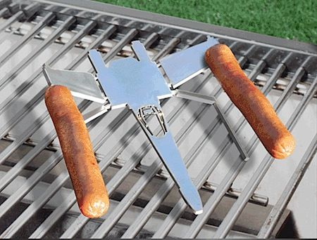 The X-wing hot dog grill holder you never knew you needed