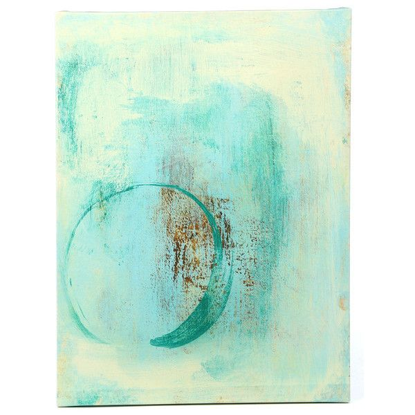 Elena Ray 'Teal Enso' Canvas Wall Art ❤ liked on Polyvore featuring home, home decor, wall art, canvas wall art, teal wall art, canvas home decor, teal home decor and teal blue home decor