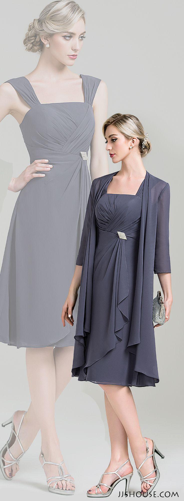 Chic chiffon dress. Both ways are great looks. #Motherofthebridedress…