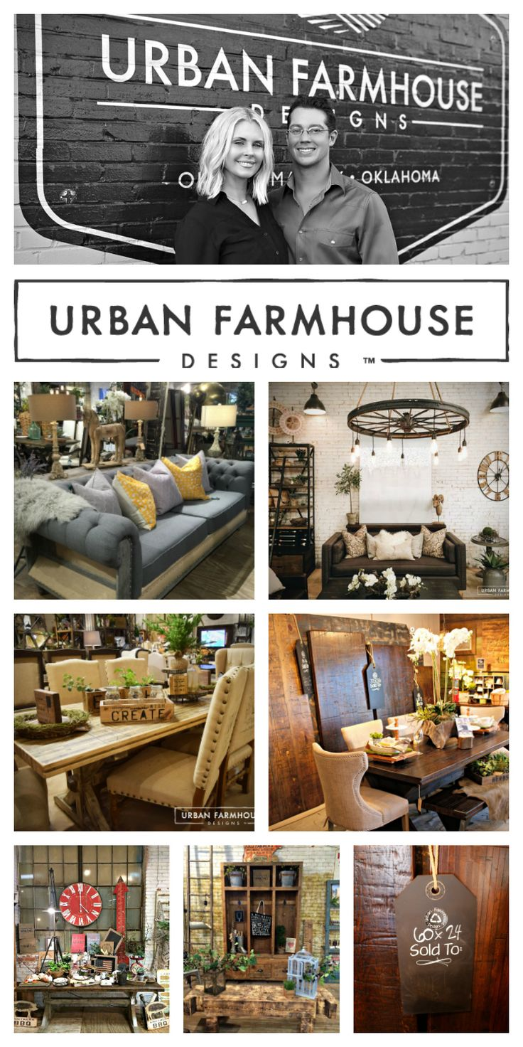Urban Farmhouse is a destination spot in OKC, OK.  The 60,000-foot store is owned by Jason and Cherami Thomas.  In 5 short years, they have gone from selling their first table on Craigslist to becoming a multi-million dollar company!