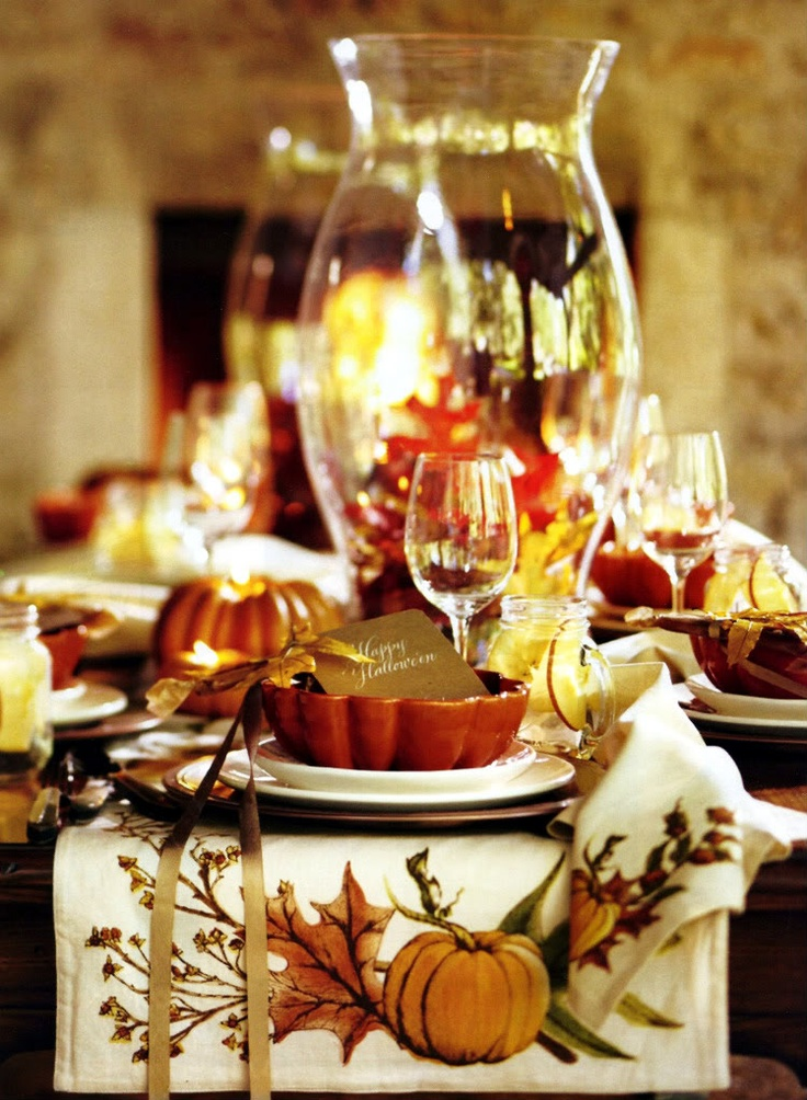 Best fall table decorations images on pinterest