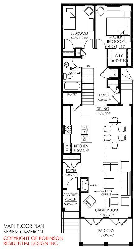 2 storey narrow house plans - Google Search                                                                                                                                                                                 More