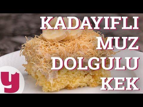 Kadayıflı Muz Dolgulu Kek (Pudingi İçinde!) | Yemek.com - YouTube