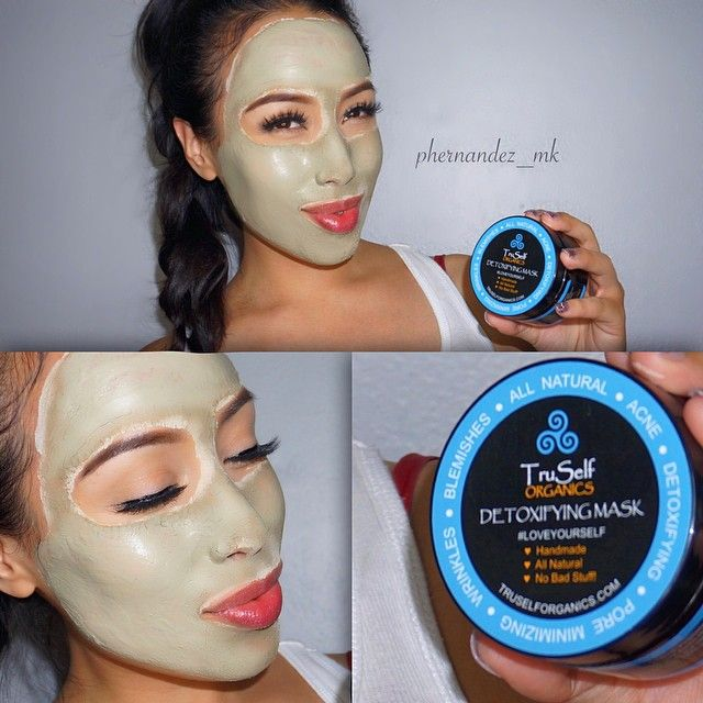"""#ShareIG I'm loving this mask! In order for makeup to look good, you have to take care of skin. And I found a really great mask that is an all natural and organic way to fight acne and wrinkles. I use 2x per week. It makes my skin brighter, tighter and I'm starting to see less blackheads and smaller pores. It is called the """"Detoxifying Facial Mask"""" by @truselforganics!"""" Make sure to check them out"""