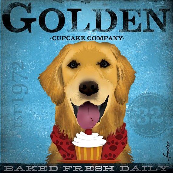 cupcake golden retriever