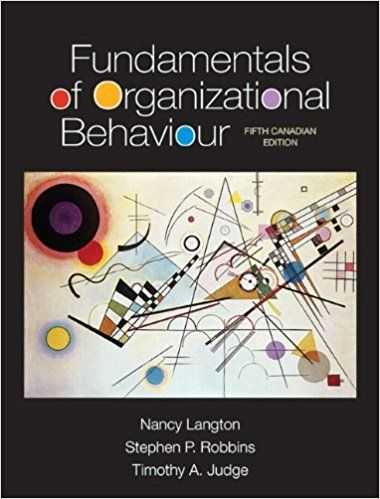 Test Bank Fundamentals Of Organizational Behaviour 5th