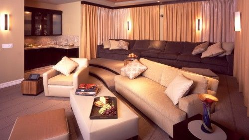 Theater Room and bar in basement