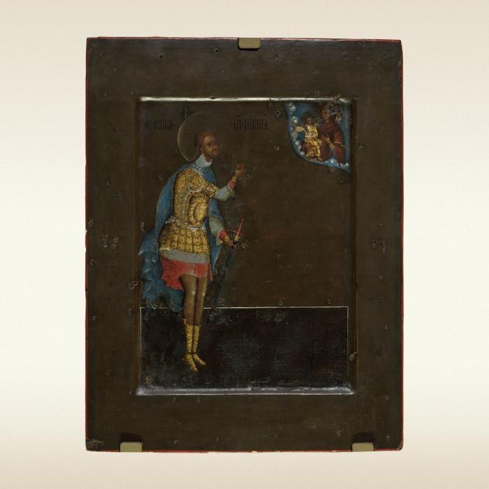 ST. NICETAS THE WARRIOR Prokopy Chirin 1593 Moscow Wood; tempera 29 х 22