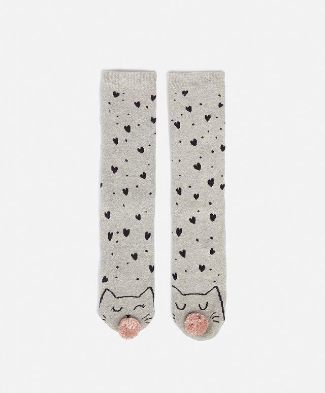Cat print socks - OYSHO