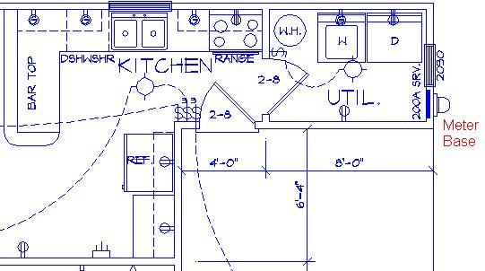 sample kitchen electrical plan parra electric inc. Black Bedroom Furniture Sets. Home Design Ideas