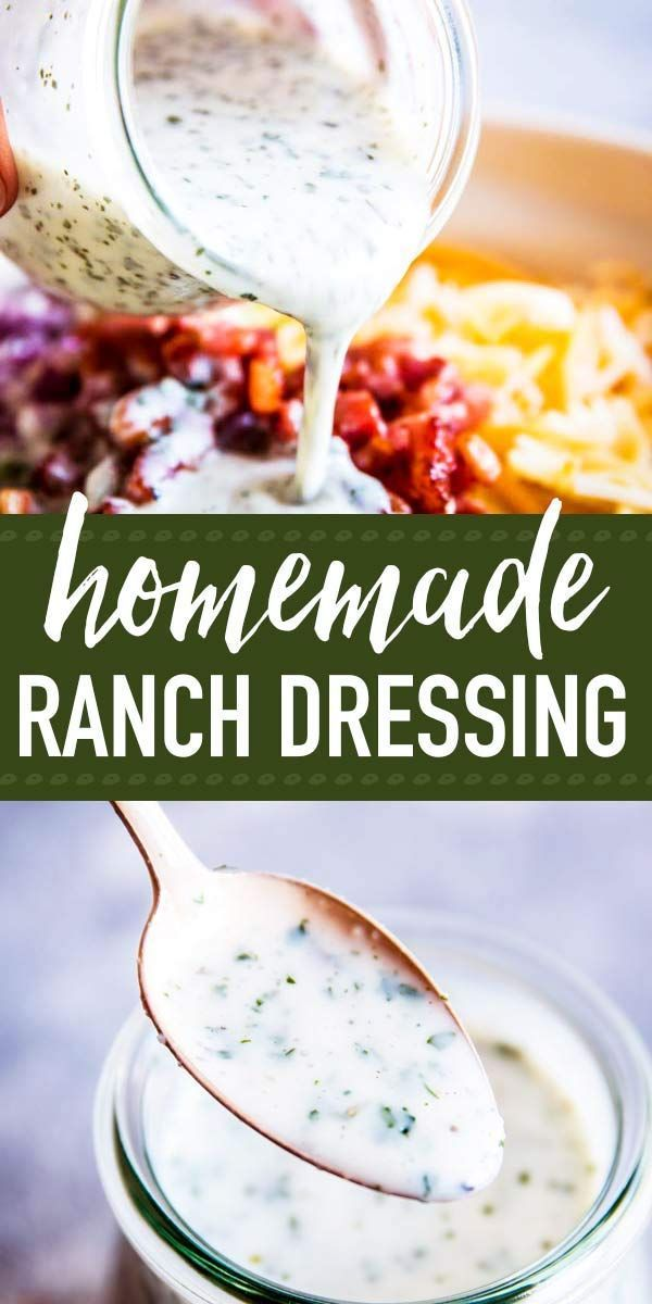 Homemade Ranch Salad Dressing Is A Quick And Easy Dressing Recipe You Can Put Togeth Easy Dressing Recipe Homemade Ranch Salad Dressing Homemade Salad Dressing