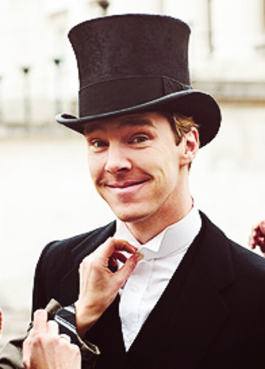 Who gave this man a top hat? He did not any more sexiness! - Benedict Cumberbatch