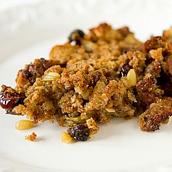 Sausage, Fig & Cranberry Stuffing...Ina Garten recipe by way of Brown Eyed Baker