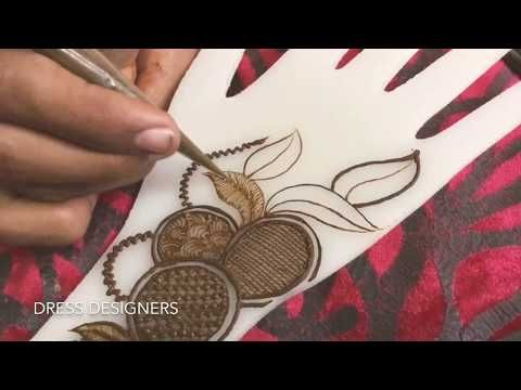 How to apply Modern Mehndi design for party quick and easy - YouTube