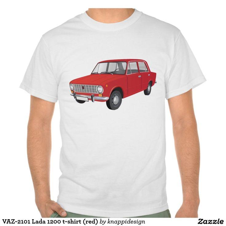 VAZ-2101 Lada 1200 t-shirt (red)  #vaz #vaz2101 #lada #lada1200 #fiat #soviet #sovietunion #automobile #car #tshirt #tshirts #russia #70s #80s #classic #zazzle