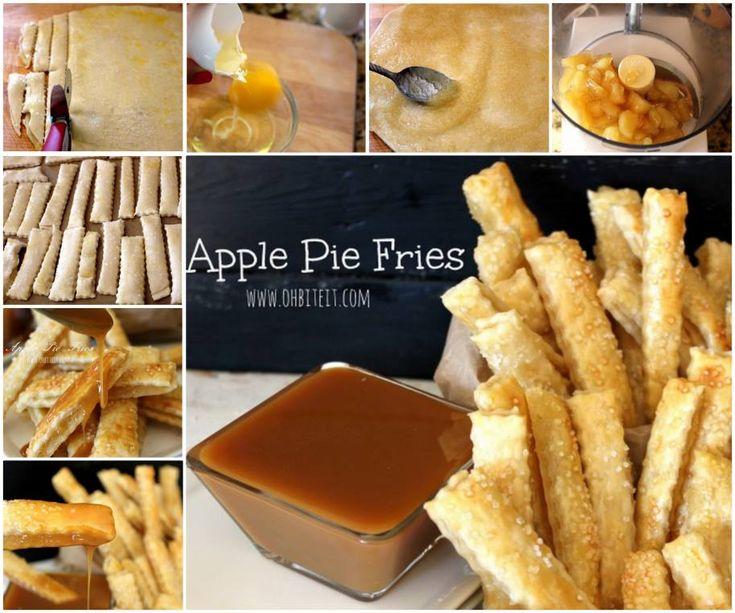 Yummy Apple Pie Fries !  Recipe--> http://wonderfuldiy.com/wonderful-diy-apple-pie-fries/