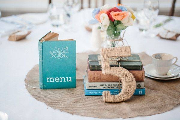 twine-wrapped table numbers // photo by Jonathan David Photography