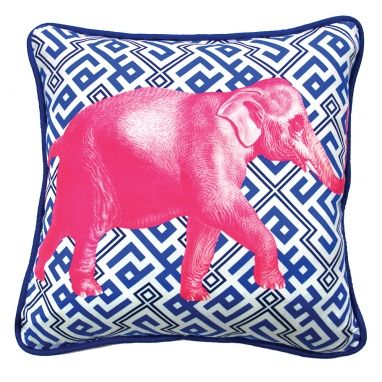 Saffron Blue Elephant Cushion from #TheHomeAus