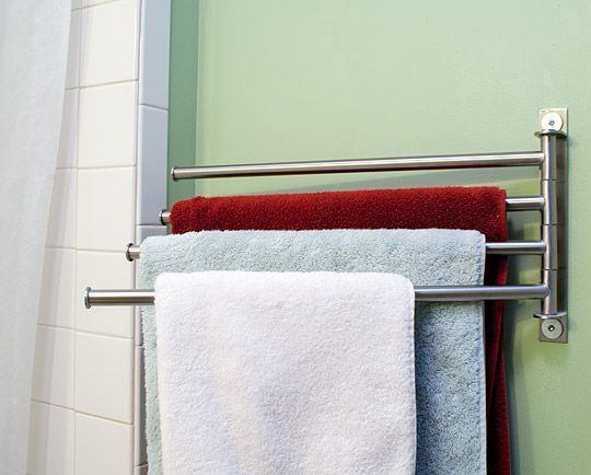 best 25 bathroom towel bars ideas on pinterest. Black Bedroom Furniture Sets. Home Design Ideas